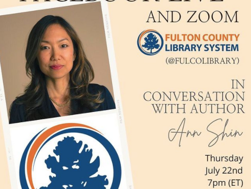 Join Ann for a Facebook Live & Zoom - Fulton County Library System