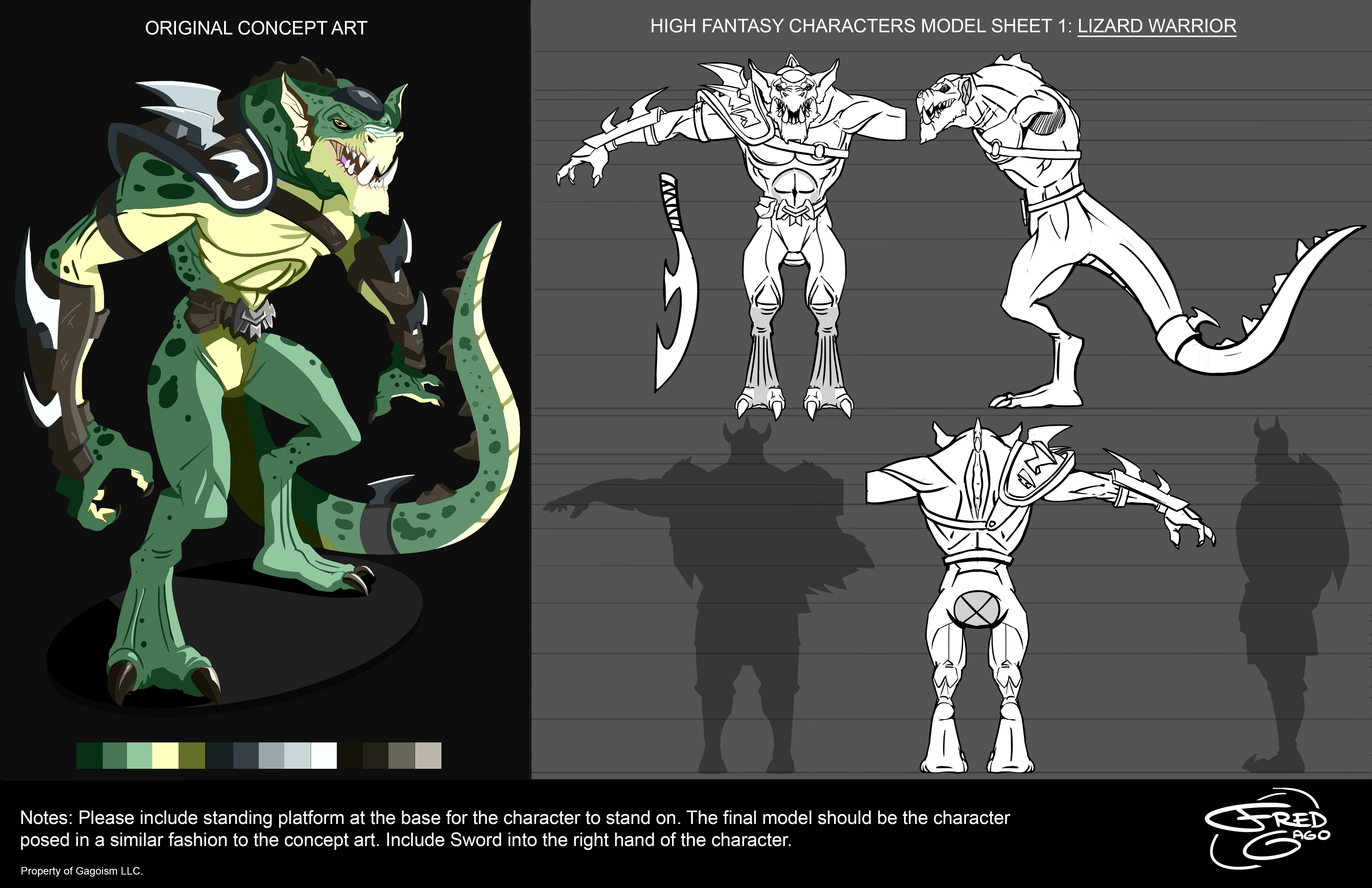 Lizard_Warrior_ModelSheet