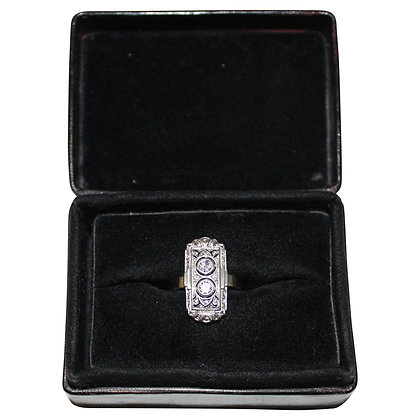 14 Carat Whitegold Ring with two Diamonds