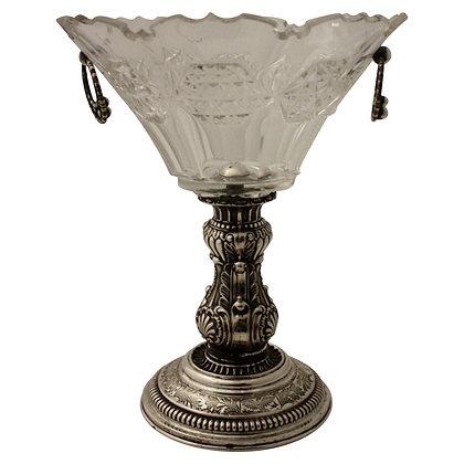 Glasskål på Sølvfod