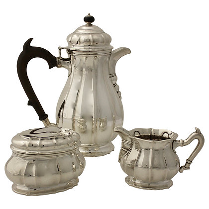 Silver Coffeepot, Sugarbowl and Creamer