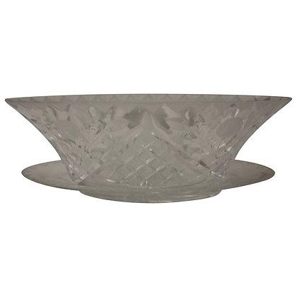 Oval Cut Glass Bowl