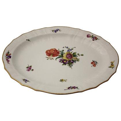 Kgl. Porcelæn Saksisk Blomst Ovalt Fad