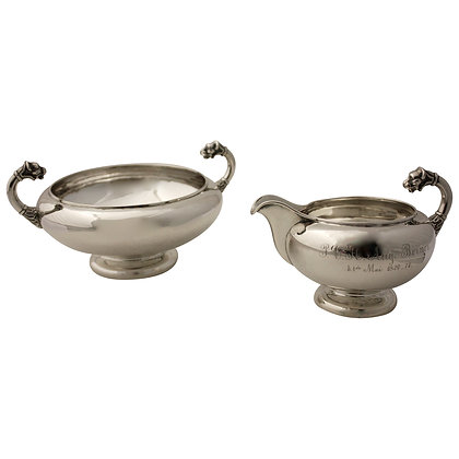 Sugarbowl and Creamer in Silver