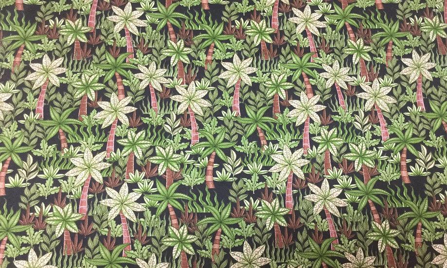 #1029-39GA Green Palm Trees