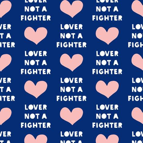 4-2018-84 Lover Not Fighter, pink heart