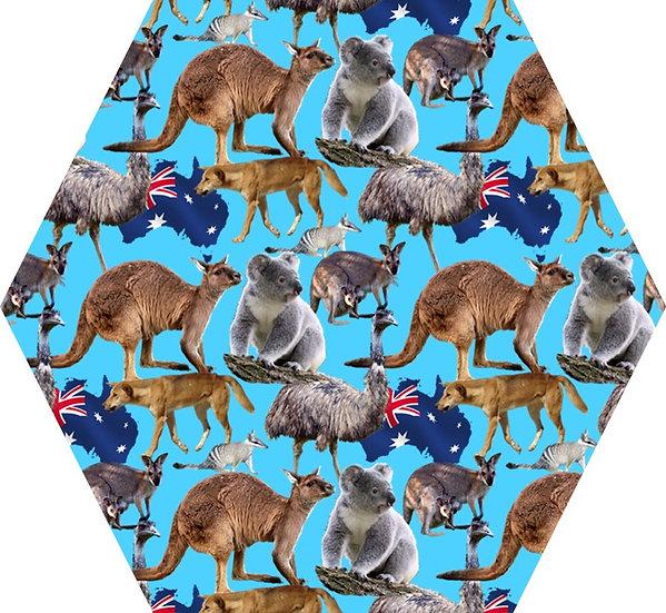 Australia turquoise background