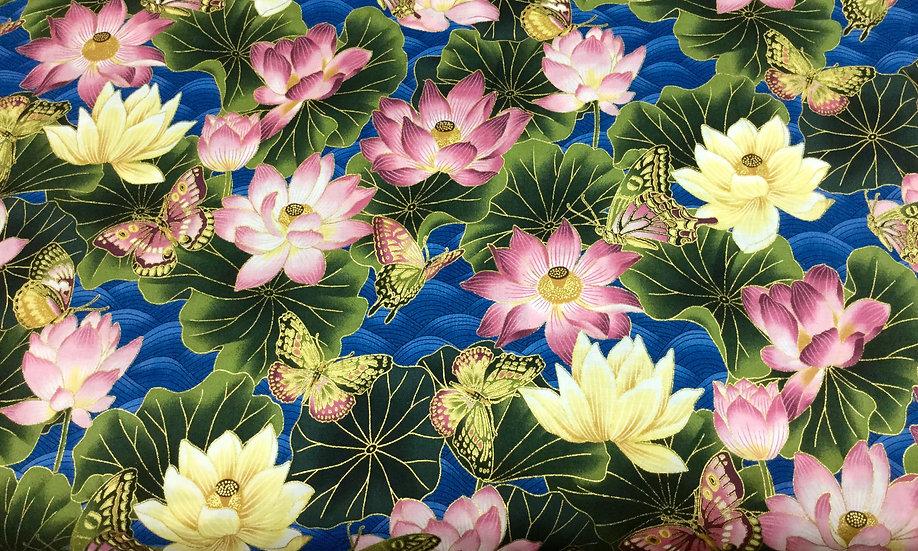 IN92 Butterflies with Flowers, metallic