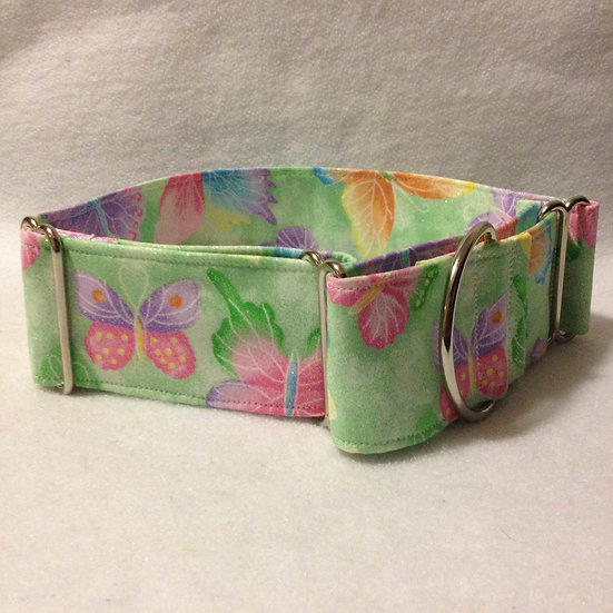 IN72 Green Butterflies, embedded glitter