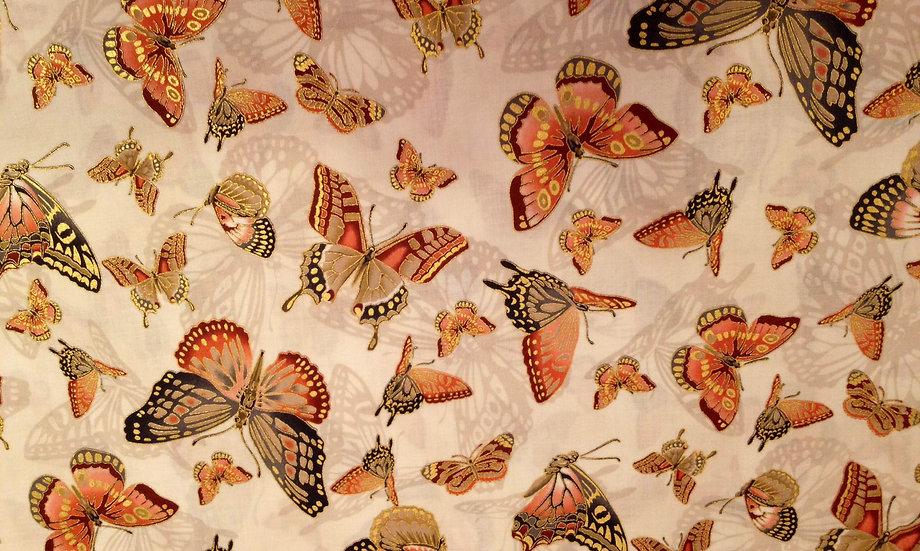 IN88 Mauve/borwn Butterflies metallic
