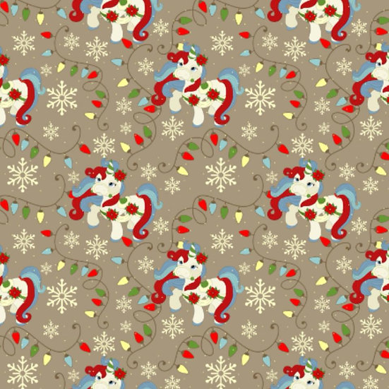 # 9.18.107 Christmas Unicorn, tan