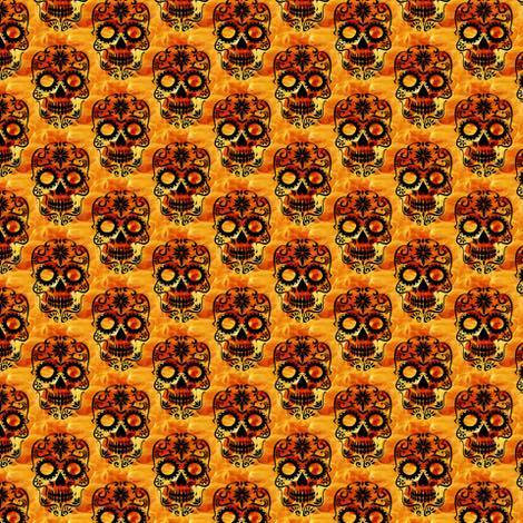 6.2017-10GO Skulls on orange