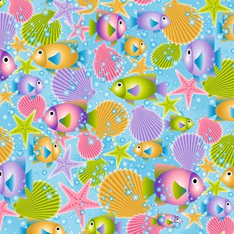 5.69 PASTEL FISH, SEASHELLS