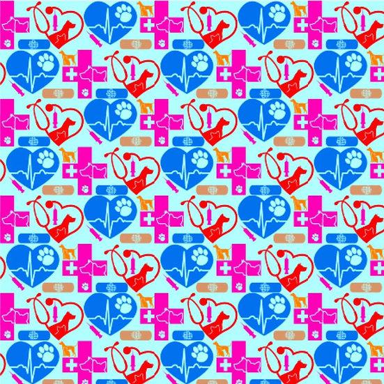 1.19-110 Vet - Vet Tech, blue