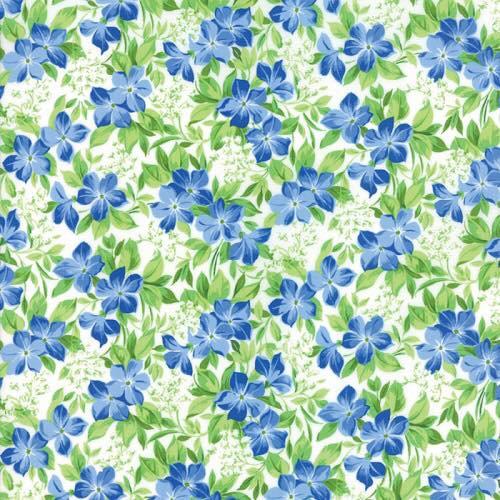 2.153 BLUE FLORALS ON WHITE