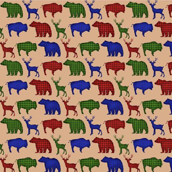 1.19-15 Buffalo Plaid Animals