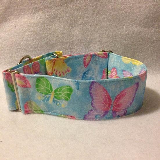 IN71 Blue Butterflies, embedded glitter
