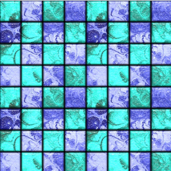 # 2019-37 Tiles, blue/turquoise