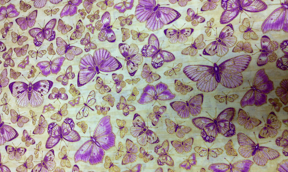 IN58 Yellow and Purple Butterflies