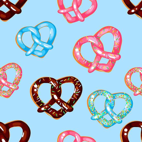 V-12 Heart pretzels, blue
