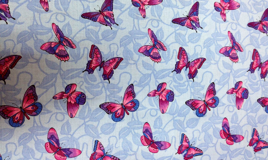 IN48 Blue and Pink Butterflies