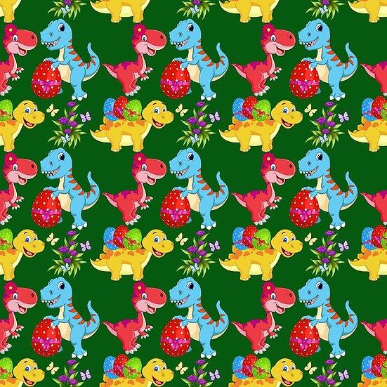 Easter-10 Dinosaurs, green