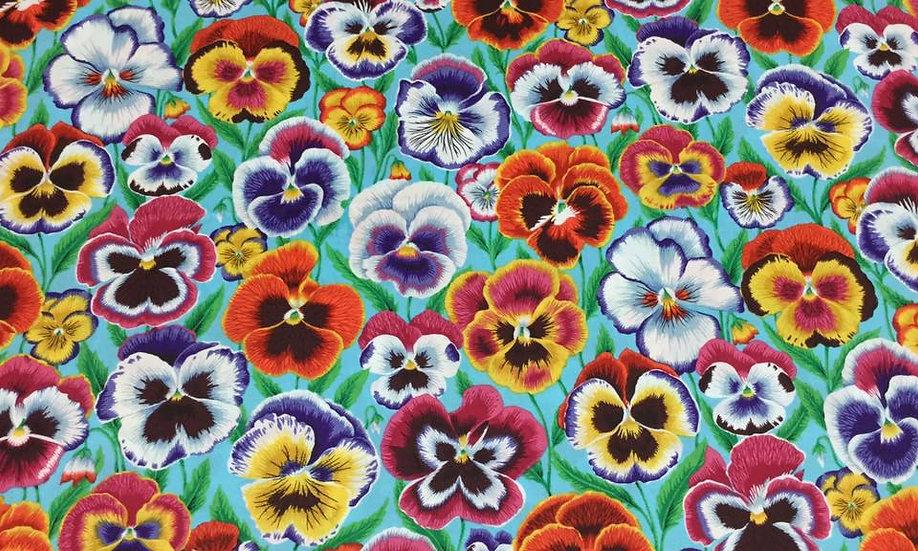 0127-97LAR Multi-color Flowers