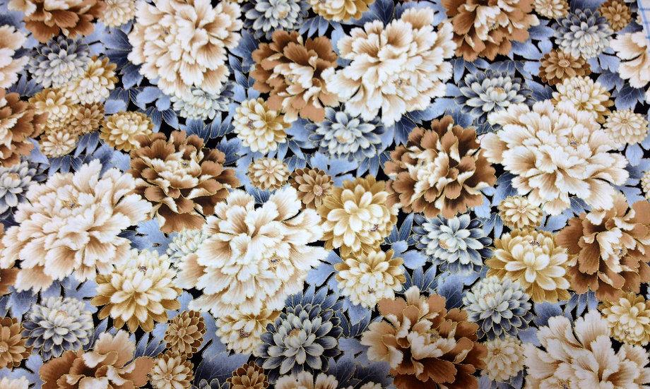 # GA146 Brown/Blue/White with metallic gold