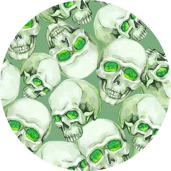 # H-23 Skulls, green eyes