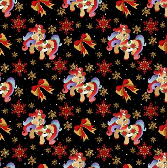 # 9.18.108 Christmas unicorn, black
