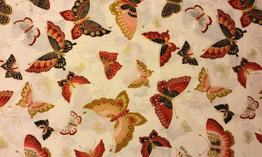 IN95 Brown Butterflies, metallic