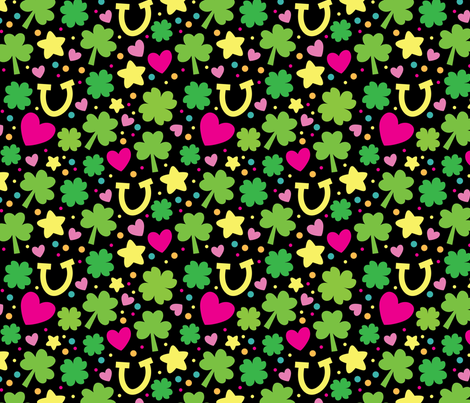 Shamrock with link hearts