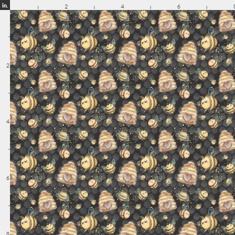 Bee and Hive, black