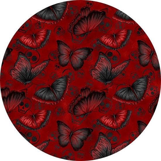 # H-39 Black/Red Butterflies