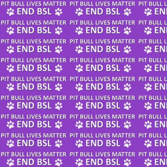 Pit Bull Lives Matter- Purple