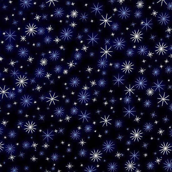 7-217-66SKY Blue sky metallic stars