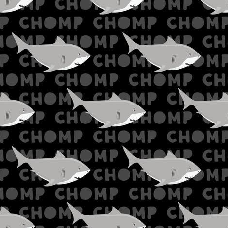 7.2017-146AN Sharks, black