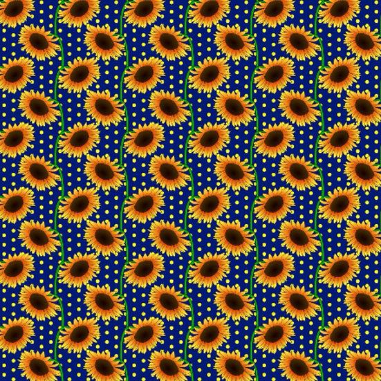 # 6.39 Sunflowers on blue