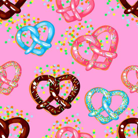 V-13 Heart pretzel, pink