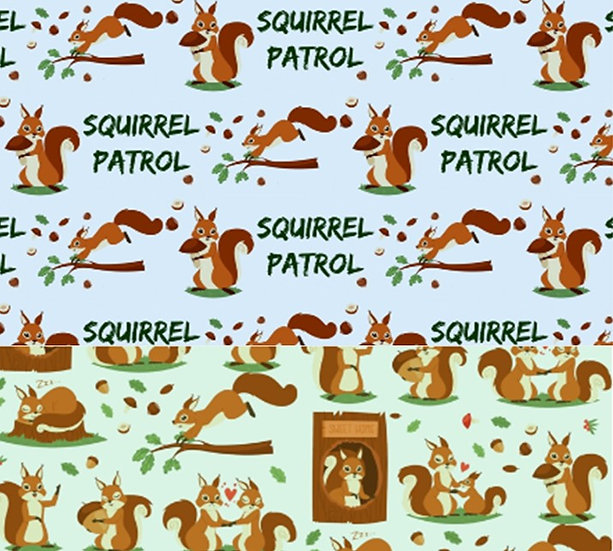 2.19-3 Dual Fabric Squirrel Patrol