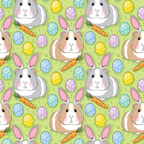 Easter-4 Guinea Pig Bunny, green