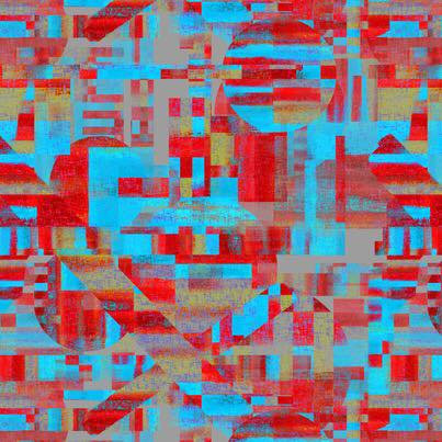 8.2017-100 Abstract Blue/red