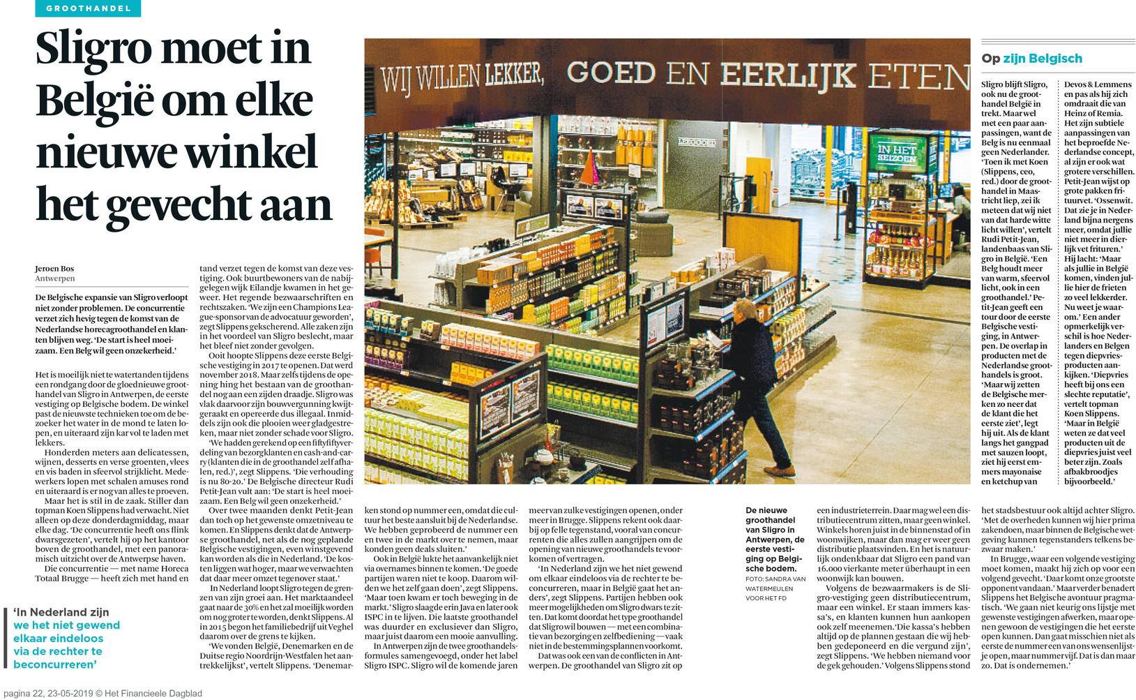 Het Financieel Dagblad 23/05/2019