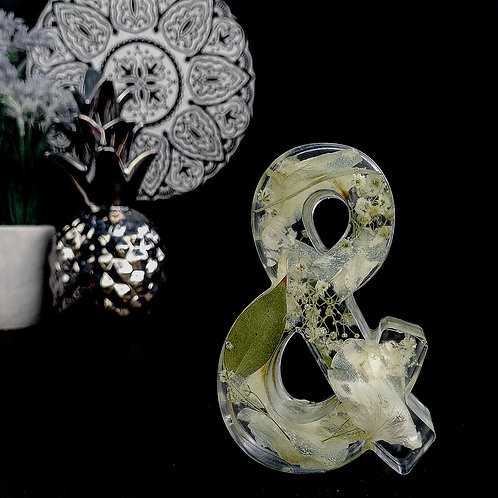 Free-standing 11cm Heart or Ampersand