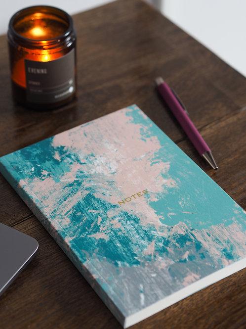Green Abstract Art Notebook