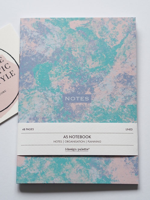 Painterly Abstract Lined Notebook