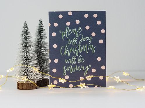 Joey Snowy Christmas Card