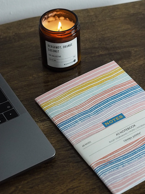Happy Stripes Dotted Notebook