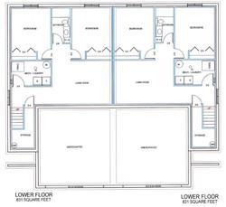 Twinhome lower floor