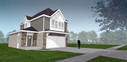 2 level model home exterior